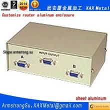 XAX554Alu OEM ODM customized laser cut bend weld sheet aluminum exhaust fan recessed electrical box Router box