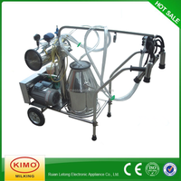 KIMO Hot Sale Single Portable Vacuum Pump Milking Machine For Cows For China