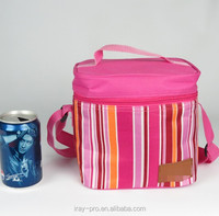 2015 Newest Stripe design picnic promotional house design cooler basket