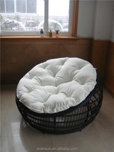 Beatiful small size wicker lounge & solid and cheap wicker sofa