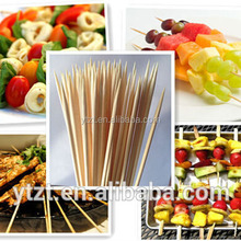 """Bamboo Skewer Sticks 6"""", for BBQ, Fondue, Hors d'oeuvres,Crafts,et"""