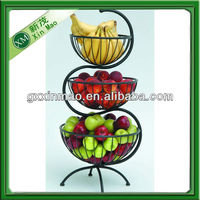 3 tier wire fruit stand basket wholesale