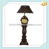 antique floor lamp with clock
