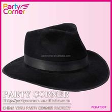 Black Gangster Hat Black With Band