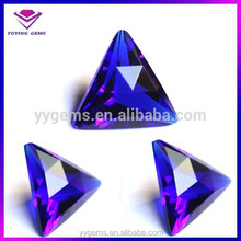 New Products triangle shape raw cubic zirconia for sale