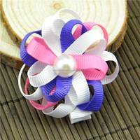Designer antique hair ribbon sculpture clip for girls