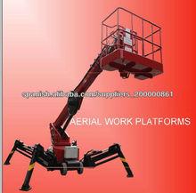 12-24m Manual remolque tipo plataforma aérea de trabajo