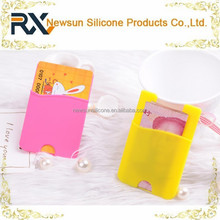 mini Silicone cell phone case card holder