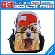 lestest fashion design animal printing dog backpack