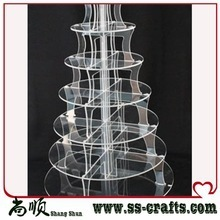High quality acrylic cake stand wholesale acrylic cupcake display stand/stand for cake