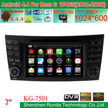 2015 New product Android 4.4.4 car radio cd for Mercedes-Benz G W463 2001-2008 with gps
