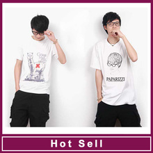 sublimation print organic cotton young boy t shirts