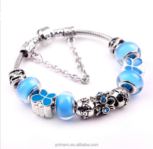 Top Seller European Charm Women With High Quality Murano Glass Beads pandoras Bracelet