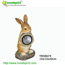 Good decorative Solar garden ornament rabbit and led solar light