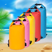 10L 500D PVC Fabric Waterproof Dry Bag For Camping and Hiking with shoulder strap