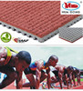 recycling prefabricated rubber running track material