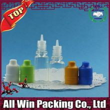 manufacture eliquid bottle 10ml 15ml 20ml 30ml PET clear plastic dropper bottle with child proof cap for ego oil e liquid e ci