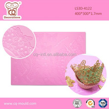 LFGB cupcake christmas accessories silicone mat,Christmas decoration silicone baking mold