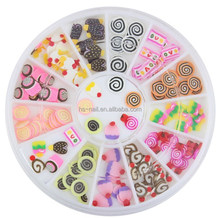 cake candy Nail decoration kit/fimo slice