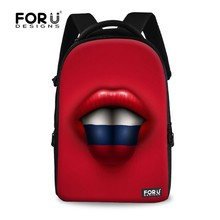 FOR U DESIGN Tongue with Flag Red Sports Bag Backbag Fashion Gymsack with Large Capacity