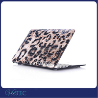 For Mackbook Pro Case Wholesale ,Leopard Grain pu leather laptop case for Macbook Air