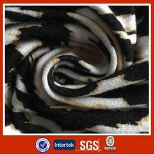Shaoxing 95/5 rayon spandex single jersey printed fabric