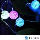 Incrível decorar efeito alto brilho multi-color led corda luz bola de algodão