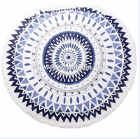 Round beach towel wholesale hot selling fashionable microfiber double side printed beach towel