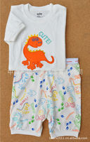 Hot selling 2015 kid clothing two-piece short sleeve leisure wear wholesales
