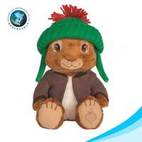 High quality cute plush bunny stuffed christmas big plush rabbit