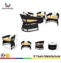 Fashionable Long-lasting Outdoor Rattan Wicker Hotel Furniture Sofa Set