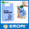 Low cost silkscreen printing reusable self-adhesive silicone wallet for iphone