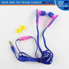 Original Colorful Portable Stereo Earphone 3.5mm Headset With Microphone and Volume Control Handfree