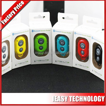 universal wireless bluetooth remote shutter wireless with packing box selfie stick bluetooth remote shutter