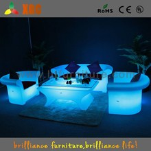 2015 new LED furniture PE material plastic chair and tables multycolor chairs and tables