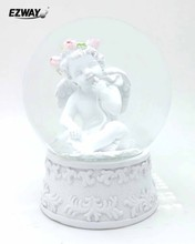 Factory Design Mini Water Globe Angel Resin
