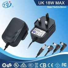 universal medical switching power adapter 9v 1500ma