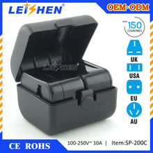 Leishen Brand Use full copper/new material PC made worldwide adapter plug for travel promotional items