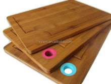 TFGJ007/Good Quality And Durable Bamboo Cutting Board With Silicon Hanging Hole