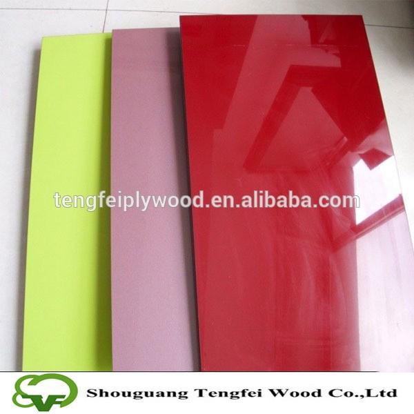 Pvc laminated mdf board wood veneer sheet coated