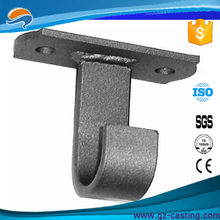Base Ceiling Wrought Iron Curtain Rod Bracket stainless steel Curtain Rod wall Bracket