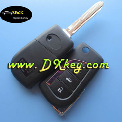 universal smart car remote for before 2007 Camry and prodo toyota flip key 3 buttons 433 mhz toyota smart key