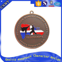 Custom metal bronze wrestle sport award medals in China