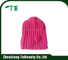 red flower beanie hat for women