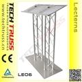 Duplo de alumínio truss púlpito , pódio púlpito púlpito