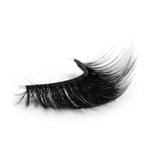 wholesale natural length 3d silk eyelash private label come from china