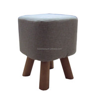 4 legs small wooden stool