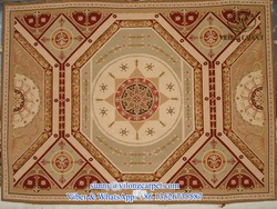 customized handmade flat weave aubusson style european flower wool rug