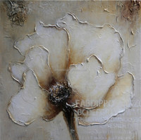 modern flower oil painting on canvas for decor