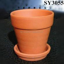 International standard small terracotta flower pot